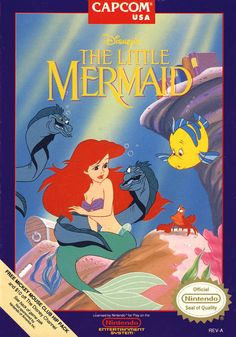 Disney's The Little Mermaid for the NES. I grew up on this game and it was my favourite until my parents filled our deprived childhoods with a PS1.