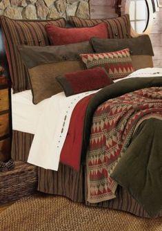 Hiend Accents Wilderness Ridge Twin Comforter Set 68-In. X 88-In. - Olive - Queen
