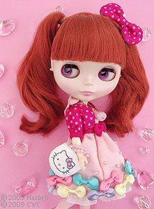 "Hello Kitty and Blythe Collaboration Doll ""CWC Exclusive Neo Blythe Ribbonetta Wish"""