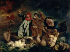 Eugène Delacroix - La Barca de Dante
