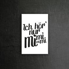 Ich hör nur Mimimi Magnet: 4,50€