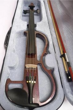 High quality Handcrafted Electric Violin 4/4 Violino Violin Brazil Wood bow