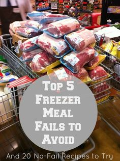 Freezer Cooking Fails to Avoid PLUS 20 No-Fail Freezer Meal Recipes. Check out the BBQ Pulled Pork and Chicken Enchilada Lasagna recipes especially. Plan Ahead Meals, Slow Cooker Freezer Meals, Make Ahead Freezer Meals, Crock Pot Freezer, Easy Meals, Budget Freezer Meals, Freezer Meal Party, Freezer Burritos, Chicken Freezer Meals