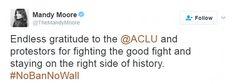 Sophia Bush, Mandy Moore, Olivia Wilde were among the celebrities who celebrated on Twitter