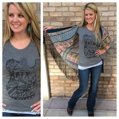 Lovin' our new ATX tee's all layered up! Come check out our new shipment of Austin tee's! #sothread #style #fallfashion #atx — at Southern Thread @ The Domain.