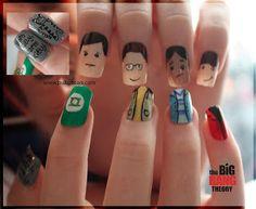 Big Bang Theory by Clawesome Nail Art