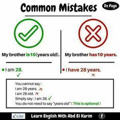 Common mistakes English Grammar Tenses, English Sentences, Learn English Grammar, English Writing Skills, English Idioms, English Phrases, English Language Learning, English Study, English Words