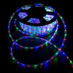 These versatile LED rope lights are perfect for decorating for any special occasion or sprucing up the house and business. The LED rope lights are encased in highly flexible PVC tubing that can contour any angle and be molded into any shape. These LED rope lights can be cut in 3 ft. increments for the perfect size needed. These LED rope lights are great for decorating stairways, railings, ceilings, desks, windows, boats, clubs, parties, galleries and special holidays. Specification:. Color… Outdoor Rope Lights, Led Rope Lights, Pendant Lights, String Lights, Christmas Lamp, Outdoor Christmas, Christmas Lights, White Christmas, Pvc Tube