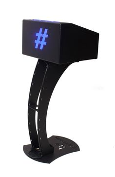 Hoot Hashtag Instagram Printer Back View Matte Black Version