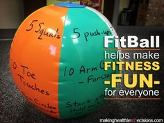 Looking for a way to entertain a group of kids over the #holidays ... check out this fun, fitness activity with a #fitball