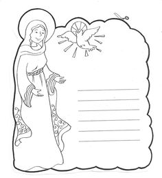 Letter to Mary Catholic Coloring Page