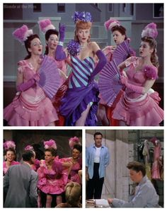 The same costumes appearing in 3 films. Top: Easy to Wed, Left: Easter Parade, Right: Summer Stock