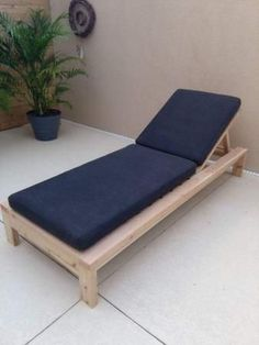 DIY modern outdoor lounge chair
