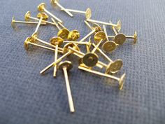Earring Studs Gold Plated 4 mm 100 prs by AliCsSupplyShop on Etsy, $2.75