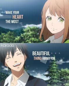 Anime - Orange (so sad) Message Quotes, Words Quotes, Life Quotes, Sayings, Sad Anime Quotes, Manga Quotes, Anime Depression, Les Sentiments, Perfection Quotes