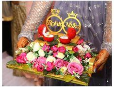 Engagement Cake Design, Engagement Stage Decoration, Engagement Ring Platter, Marriage Decoration, Wedding Stage Decorations, Engagement Ideas, Wedding Engagement, Diy Wedding Ring, Ring Holder Wedding