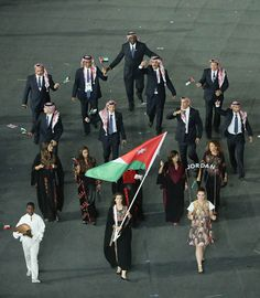 Representing Jordan.  Looks like this photo might be from the Olympics!