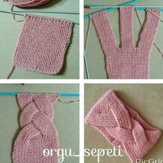 Tutos bandeaux au tricot - Sarah - Knitting for beginners,Knitting patterns,Knitting projects,Knitting cowl,Knitting blanket Knitting Stitches, Free Knitting, Baby Knitting, Knitting Patterns, Crochet Patterns, Knitting Machine, Stitch Patterns, Bear Patterns, Lace Patterns