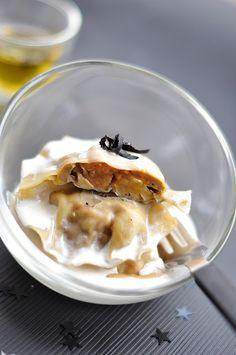 Recettes menu de Fêtel #1: Ravioles de foie gras, crème à la truffe