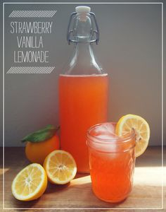 a whole new way to experience lemonade -> strawberry vanilla lemonade