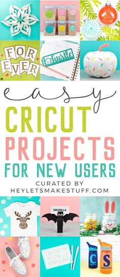 Easy Cricut Projects for Beginners New to using your Cricut? These easy Cricut projects for beginners are the perfect place to start! Get your feet wet with these fun but simple Cricut crafts using your Cricut Explore Air 2 or Cricut Maker machine. Cricut Vinyl, Cricut Air 2, Cricut Craft Room, Cricut Stencils, Vinyl Decals, Cricut Ideas, Cricut Tutorials, Cricut Project Ideas, Circuit Projects