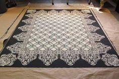 Stenciled Floor cloth with step by step how to