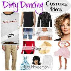 These are #DirtyDancing #CostumeIdeas for men and women.  What's great about Dirty Dancing Halloween costumes is you can go in groups or in couples.  These are perfect for #80spartythemes and more!