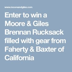 Enter to win a Moore