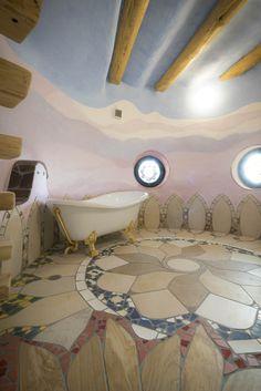 日本のアースバッグ  #土芸 #earthbag #fantasy #dogei #tile #mosaic #design
