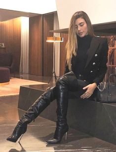 Leather High Heel Boots, Thigh High Boots Heels, Stiletto Boots, Heeled Boots, High Heels, Knee Boots, Crotch Boots, Sexy Stiefel, Botas Sexy