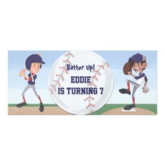 Baseball Birthday Party Personalized Invite