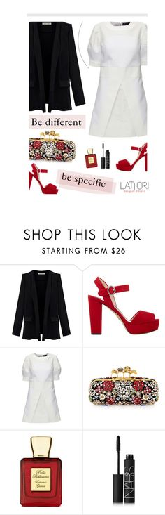 """Be more, you"" by merima-kopic ❤ liked on Polyvore featuring Prada, Lattori, Alexander McQueen, Bella Bellissima, NARS Cosmetics, dress and lattori"
