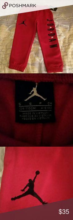 Air Jordan sweatpants boy size 4-5 AIR JORDAN sweatpants brand new with tags. Bottoms Sweatpants & Joggers