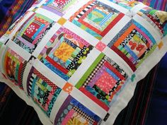 A Spoonful of Sugar: Log Cabin Pillow