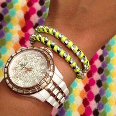 DIY wrap around bracelet. Arm Candy Bling!