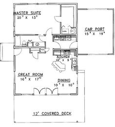 Home Plans HOMEPW12103 - 1,120 Square Feet, 1 Bedroom 1 Bathroom Contemporary Home with