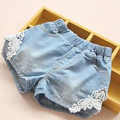 Cheap girls denim shorts, Buy Quality baby girl denim shorts directly from China denim girls shorts Suppliers: 2017 Summer Baby Girls Denim Shorts Lace Jeans Children Clothes Girls Cowboy Short Elastic Waist Casual Kids Toddler Outfits Lace Denim Shorts, Girls Denim Shorts, Denim And Lace, Girls Pants, Blue Denim, Denim Pants, Kids Outfits Girls, Toddler Outfits, Girl Outfits