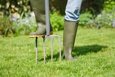 Fall lawn care is no walk in the park. It's hard work; let us guide you through four basic steps to make lawn care easier, though. Fall Lawn Care, Lawn Care Tips, Organic Gardening, Gardening Tips, Organic Fertilizer, Indoor Gardening, Lawn Sprinklers, Lawn Maintenance, Garden Care