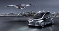 at the 2018 geneva motor show, AUDI, italdesign and airbus are presenting the 'pop.up next' concept that blends a self-driving car and passenger drone. Bronco Sport, Flying Car, Geneva Motor Show, Futuristic Cars, Futuristic Vehicles, City Car, Audi Cars, Future Car, Corvette