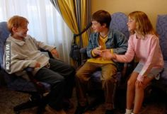 For Harry Potter people. Photo of the first day the trio met.