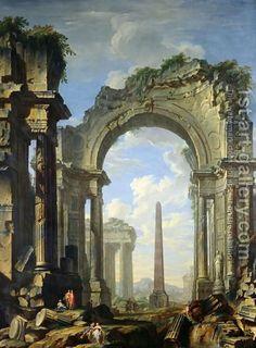 Landscape with Ruins by Giovanni Niccolo Servandoni