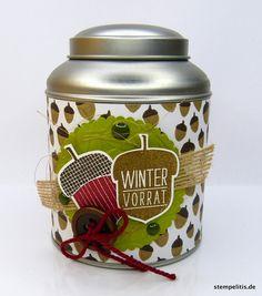 Geschenke für Männer - Geschenkdose Herbst Wintervorrat - ein Designerstück von Stempelitis bei DaWanda