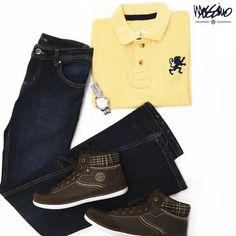 Una playera #Mossimo y tenis @FurorOficial son las prendas clave de este look.