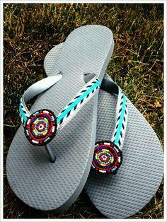 f905a014af69 Handmade Flip Flops...Made by Dizzy Bees