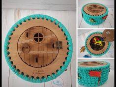 Pólófonalazz velünk! - Horgolt kalózdoboz elkészítése - YouTube Hobbit, Collie, Coasters, Stitch, Make It Yourself, Youtube, Blog, Crochet Purses, Dios