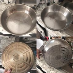 Deep Cleaning, Cleaning Hacks, Cleaning Wipes, Cleaning Products, How To Clean Rust, How To Remove Rust, Burnt Food, Clean Pots, Stainless Steel Pot
