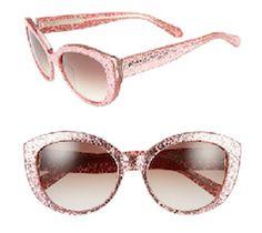 Pink glitter sunglasses. Pretty fabulous.