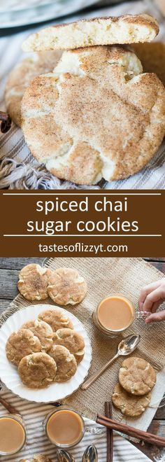 Warm vanilla spiced chai sugar cookies that are rolled in a homemade chai spice blend. Dunk them in a chai latte for a comforting breakfast or snack.