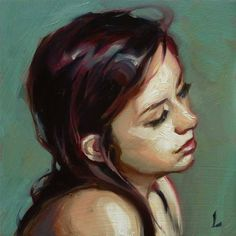 "Daily Paintworks - ""Sway"" - Original Fine Art for Sale - © John Larriva Painting People, Figure Painting, Painting & Drawing, John Larriva, Arte Pop, Art Studies, Fine Art Gallery, Portrait Art, Face Art"