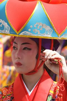 Okinawa  沖縄 国際通り 琉球舞踊